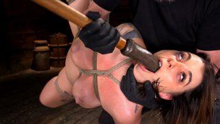 Ivy LeBelle tortured till cum during bondage session