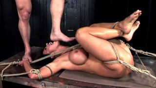 Cony Ferrara was tortured during BDSM session by cruel Master